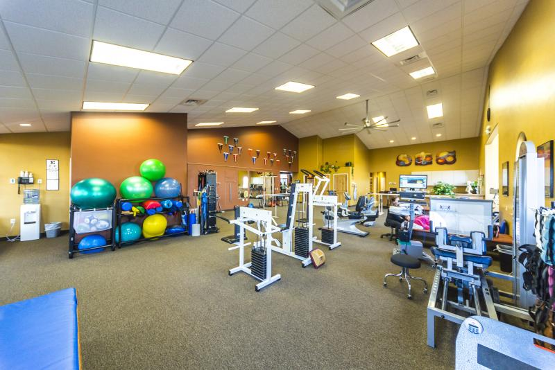 A view of inside CPR's Physical Therapy Gym